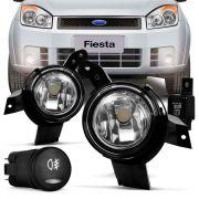 Kit Farol de Milha Ford Ka Fiesta 2008 a 2011 Ecosport 2009 a 2011
