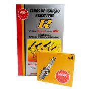 Kit Jogo Cabo de Ignição e Vela Ngk Renault Renault Logan Sandero Symbol 1.6 8v