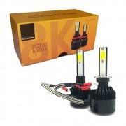Kit Lâmpada Led H1 7800 Lumens 6000K 12V 24V Luz Azulada