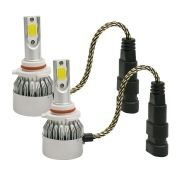 Kit Lâmpada Led Headlight 2D HB4 3800 Lumens Super Branca 12V 24V