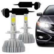 Kit Lâmpada Super Led Headlight 2D H7 6200K 12V Branca