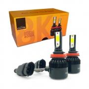 Kit Lâmpada Super Led Headlight Code H8 H9 H11 32w 8000k 12V e 24V