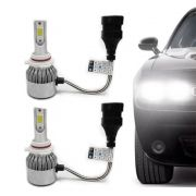 Kit Lâmpada Super Led Headlight DLUX 9005 HB3 6000K 12V e 24V Efeito Xenon