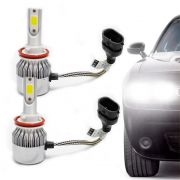 Kit Lâmpada Super Led Headlight DLUX H11 6000K 12V e 24V Efeito Xenon