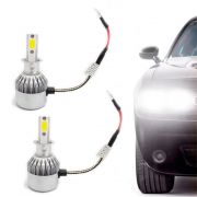 Kit Lâmpada Super Led Headlight DLUX H3 6000K 12V e 24V Efeito Xenon