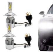 Kit Lâmpada Super Led Headlight DLUX H4 6000K 12V e 24V Efeito Xenon