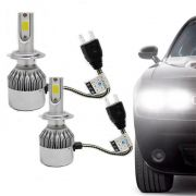 Kit Lâmpada Super Led Headlight DLUX H7 6000K 12V e 24V Efeito Xenon