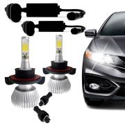 Kit Lâmpada Super Led Headlight H13 6000K 12V 24V Efeito Xenon