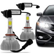 Kit Lâmpada Super Led Headlight H3 6000K 12V e 24V Efeito Xenon
