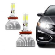 Kit Lâmpada Ultra Led Headlight H9 6000K 12V e 24V Efeito Xenon