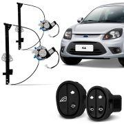 Kit Máquina de Vidro Elétrica Ford Ka G2 2 Portas 2008 a 2014