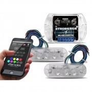 Kit Strobo Automotivo Zendel RGB Bluetooth 2 Faróis - RGB 7 Cores