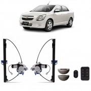 Kit Vidro Elétrico com Antiesmagamento Chevrolet Cobalt 2011 a 2019 4 Portas Dianteiro