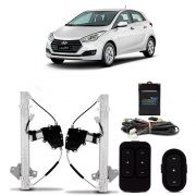 Kit Vidro Elétrico com Antiesmagamento Hyundai HB20 até 2015 4 Portas Dianteiro Tragial