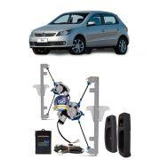 Kit Vidro Elétrico com Antiesmagamento Volkswagen Gol Voyage G5 2014 4 Portas Dianteiro Tragial