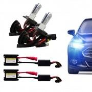 Kit Xenon Completo H4-2 8000K Tonalidade Azulada