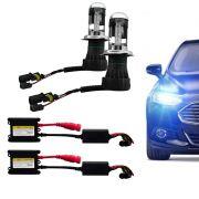 Kit Xenon Completo H4-3 Bi 6000K Tonalidade Azulada
