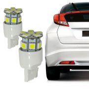 Lâmpada 13 Leds T20 12V Branca Lanterna Traseira Par