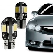 Lâmpada Super Pingão 8 LEDS 5730 12V Soquete T10 Cor Branca