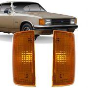 Lanterna Dianteira Pisca Chevrolet Opala Caravan 1988 a 1992 D20 Veraneio Bonanza 1993 em Diante Ambar Lado Direito