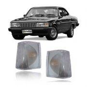 Lanterna Dianteira Pisca Chevrolet Opala Caravan 1988 a 1992 D20 Veraneio Bonanza 1993 em Diante Cristal Lado Esquerdo