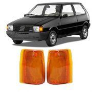 Lanterna Dianteira Pisca Fiat Uno Premio Elba Fiorino 1984 a 1990 Ambar Lado Direito
