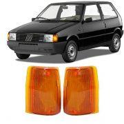 Lanterna Dianteira Pisca Fiat Uno Premio Elba Fiorino 1984 a 1990 Ambar Lado Esquerdo