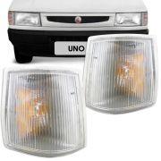 Lanterna Dianteira Pisca Fiat Uno Prêmio Fiorino 1991 a 2002 Cristal Lado Esquerdo 90809