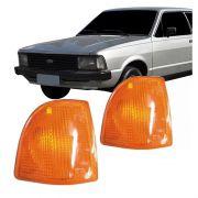 Lanterna Dianteira Pisca Ford Corcel II 1985 em Diante Ambar Lado Esquerdo