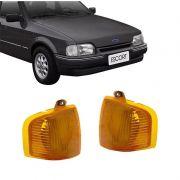 Lanterna Dianteira Pisca Ford Escort 1987 a 1992 Ambar Lado Esquerdo