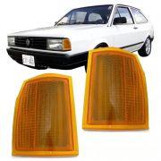 Lanterna Dianteira Pisca Volkswagen Gol Saveiro 1985 a 1986 Parati Voyage 1982 a 1986 Ambar Lado Esquerdo
