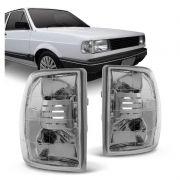 Lanterna Dianteira Pisca Volkswagen Gol Saveiro 1985 a 1986 Parati Voyage 1982 a 1986 Cristal Lado Esquerdo