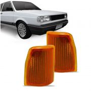 Lanterna Dianteira Pisca Volkswagen Gol Saveiro Parati Voyage até 1986 Ambar Lado Esquerdo