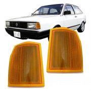 Lanterna Dianteira Pisca Volkswagen Gol Voyage Parati Saveiro 1987 a 1990 Ambar Lado Esquerdo