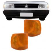 Lanterna Dianteira Pisca Volkswagen Gol Voyage Parati Saveiro 1991 a 1994 Ambar Lado Esquerdo