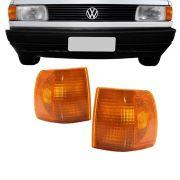 Lanterna Dianteira Pisca Volkswagen Gol Voyage Parati Saveiro 1991 a 1996 Ambar Lado Esquerdo