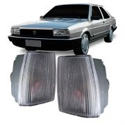 Lanterna Dianteira Pisca Volkswagen Santana CS CG CD GL 1986 em Diante Cristal Lado Esquerdo