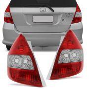 Lanterna Traseira Cristal Honda Fit 2003 a 2008 Lado Esquerdo