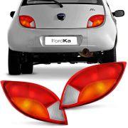 Lanterna Traseira Ford Ka 1997 a 2000 Tricolor Ré Cristal Lado Direito