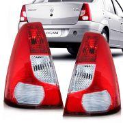 Lanterna Traseira Renault Logan 2007 a 2010 Bicolor Lado Esquerdo 32055