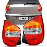 Lanterna Traseira Tricolor Fiat Palio G1 2001 a 2003 Palio Fire 2003 a 2008 Lado Direito