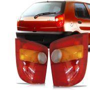 Lanterna Traseira Tricolor Fumê Fiat Palio 1996 a 2000 Lado Esquerdo