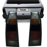 Lanterna Traseira Vw Parati Saveiro Quadrada 1987 a 1995 Fumê Lado Esquerdo