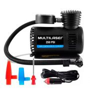 Mini Compressor de Ar Automotivo Multilaser Compacto 12V 250 PSI Preto