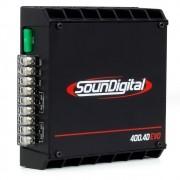 Módulo Amplificador Digital SounDigital SD400.4D EVO 2 Black 4 Canais