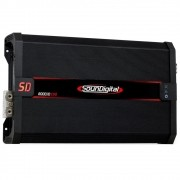 Módulo Amplificador Digital SounDigital SD8000.1D EVO 2 Black 1 Canal - 8000 Watts RMS 2 Ohms