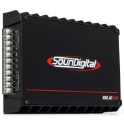 Módulo Amplificador Digital SounDigital SD800.4D EVO 2 Black 800 Watts RMS 4 Ohms