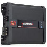 Módulo Amplificador SounDigital SD1600 1D1 EVO 1600W Rms 1 Canal 1 Ohms