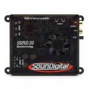 Módulo Amplificador SounDigital  SD250 2D4 Nano 250W Rms 2 Canais  4 Ohms