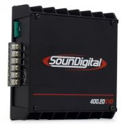 Modulo Amplificador Soundigital Sd400.2 400w Rms 4 Ohms Sd